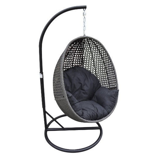Peter Hanging Egg Chair - Granite Wicker - Inspired Outdoor Living